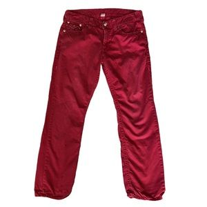 Men's Red True Religion straight leg jeans